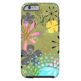 1 iPhone resistente floral retro 6 cobrir do caso Capa Tough Para iPhone 6