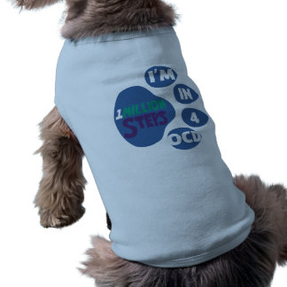 1 milhão camisetas de cão das etapas 4 OCD Camisa Sem Mangas Para Cachorro