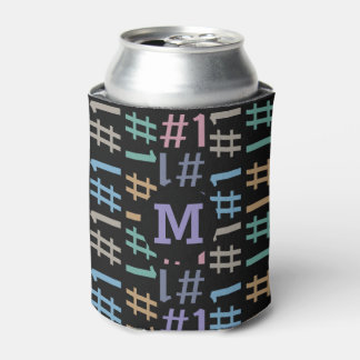 """# 1"" monograma feito sob encomenda do teste porta-lata"
