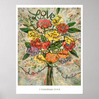1 os Corinthians 13, amor são poster paciente