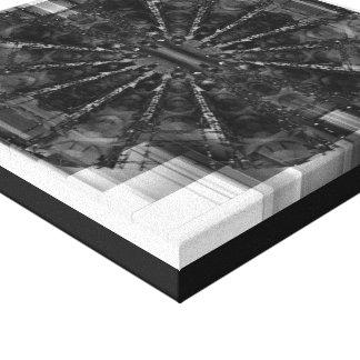 1 preto e branco impressão em tela