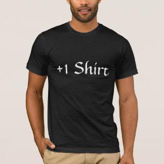 +1 T preto da camisa