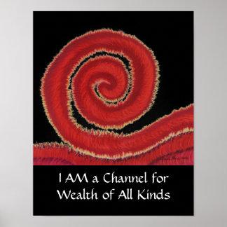 1st-Root Chakra#1: Dinheiro-Eu Am um canal para a Poster