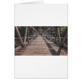 1Trust no senhor Papel de carta Cartão Comemorativo
