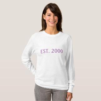 2000 camisas longas estabelecidas ano da mulher da