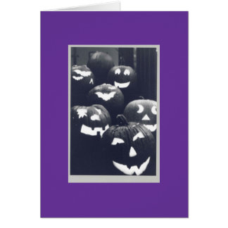 2004 abóboras cartão comemorativo