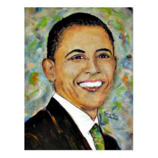 2008) retratos do presidente Obama ( Cartão Postal
