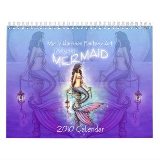 2010 calendários místicos da sereia por Molly
