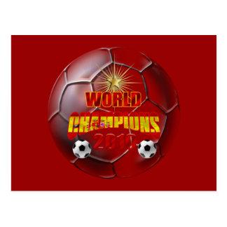 2010 campeões da espanha do mundo cartão postal