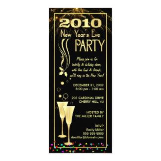 2010 convites de festas da véspera de Ano Novo