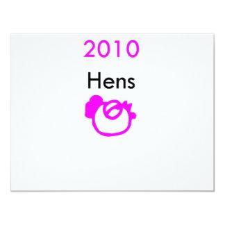 2010 galinhas convites personalizados