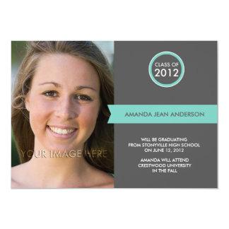 2012 anúncios da graduação - bandeira elegante convites personalizado