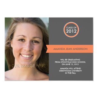 2012 anúncios da graduação - bandeira elegante convite
