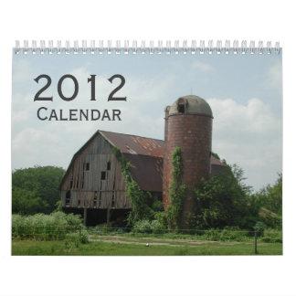 2012 calendários cénicos