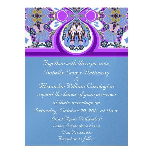 2012 convite roxo & azul do casamento do gelo