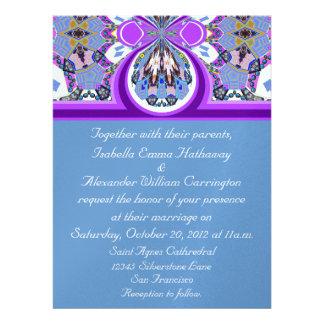 2012 convite roxo azul do casamento do gelo