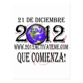 2012 espanhóis cartão postal