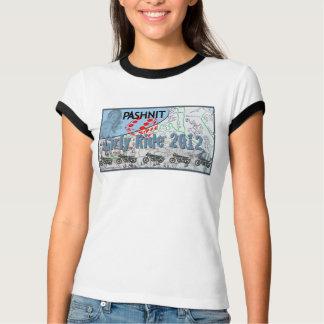 2012 t-shirt femininos 2 do passeio camiseta