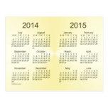 2014-2015 calendário do ouro do ano escolar mini cartões postais