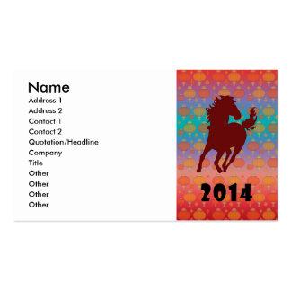 2014 - Ano do cavalo Modelo Cartao De Visita