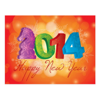 2014 anos novos chineses felizes do cartão do cava cartão postal