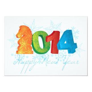 2014 anos novos chineses felizes do cartão do convite 12.7 x 17.78cm