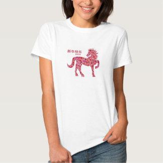 2014 anos novos lunares chineses do t-shirt do