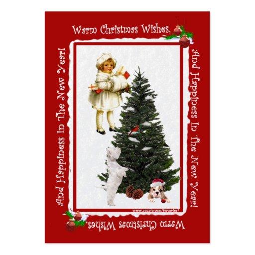 2014 calendário #3 do cartão de visita do Natal 2,