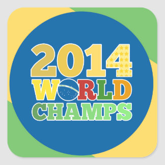 2014 campeões do mundo - sutiã adesivo quadrado