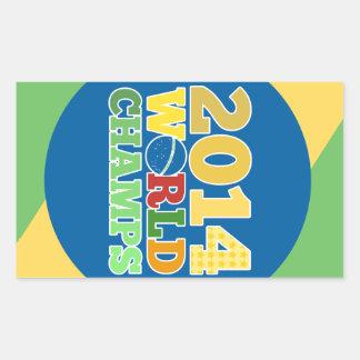 2014 campeões do mundo - sutiã adesivo retangular