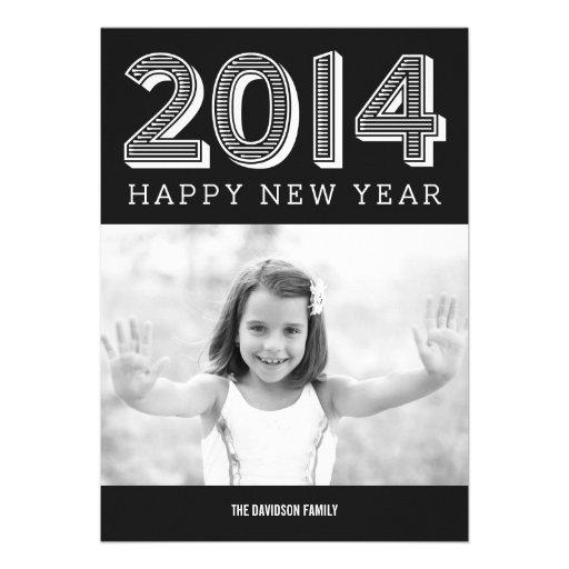 2014 cartões com fotos FELIZES do ANO NOVO Convite Personalizado