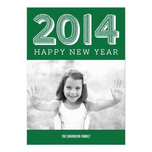 2014 cartões com fotos FELIZES do ANO NOVO Convites