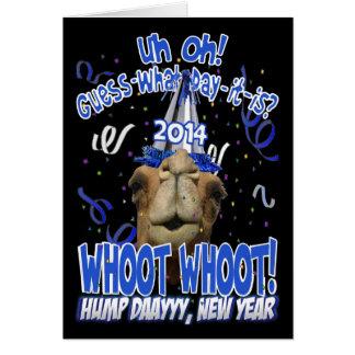 2014 cartões do camelo do dia de corcunda de ano