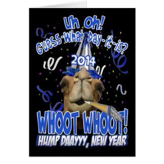 2014 cartões do camelo do dia de corcunda de ano n