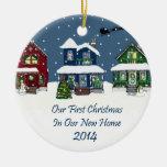 2014 casas nevado do Natal Home novo Enfeite Para Arvore De Natal