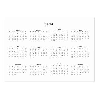 2014 criar-lo você mesmo calendário cartão de visita grande