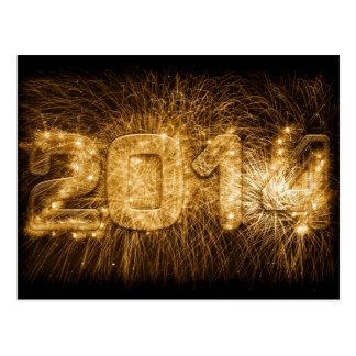 2014 - O feliz ano novo Cartão Postal