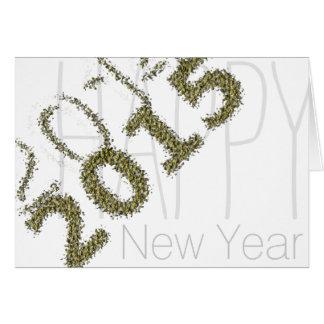 2014- Os 2015 felizes anos novos - poeira de ouro Cartão Comemorativo