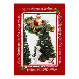 2014 papais noeis calendário #5 de 2,5 x 3,5 cartõ modelo cartões de visitas