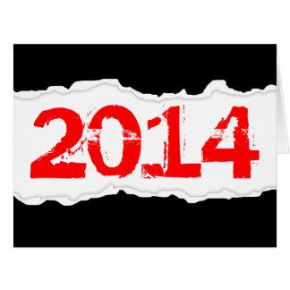 2014 (papel rasgado) cartão comemorativo grande