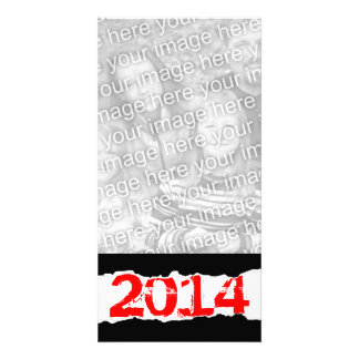 2014 (papel rasgado) cartão com fotos