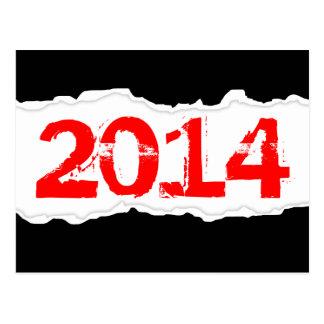 2014 (papel rasgado) cartões postais