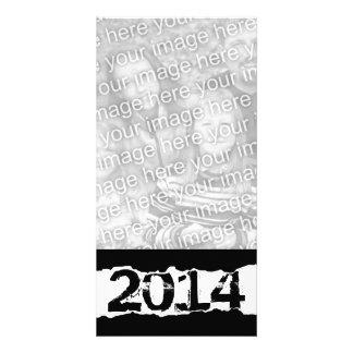 2014 (rasgo da página) cartão com foto