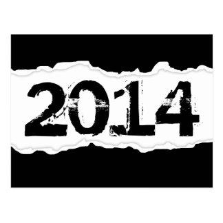 2014 (rasgo da página) cartão postal