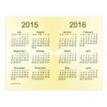 2015-2016 calendário do ouro do ano escolar mini cartao postal