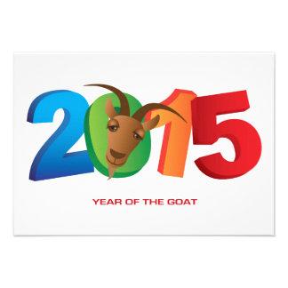 2015 anos novos chineses do convite da cabra