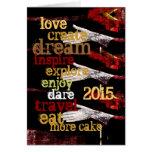 2015 definições inspiradores do ano novo cartao