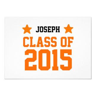 2015 ou algumas classes do ano de formando novo convite 12.7 x 17.78cm
