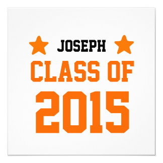 2015 ou algumas classes do ano de formando novo convite quadrado 13.35 x 13.35cm