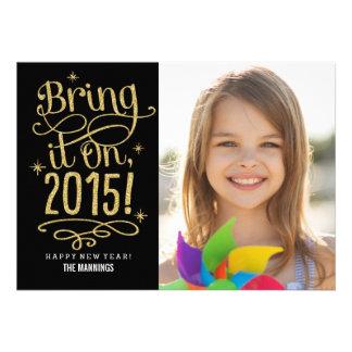 2015 traga-o no cartão com fotos do ano novo
